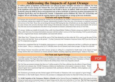 Addressing the Impacts of Agent Orange