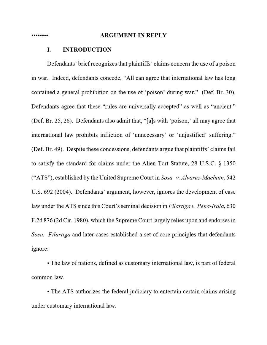 Argument in Reply Introduction Brief