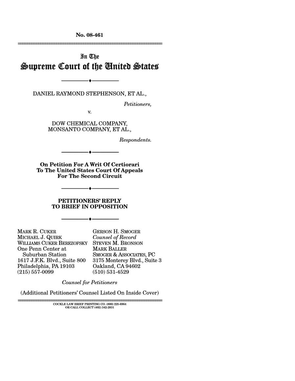 Dow Chemical Co. v. Stephenson, 539 U. S. 111 (2003)