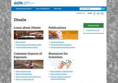 EPA Dioxin Website