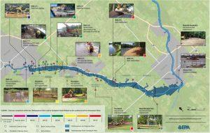 Map of the Tittabawasee River Clean-up Project